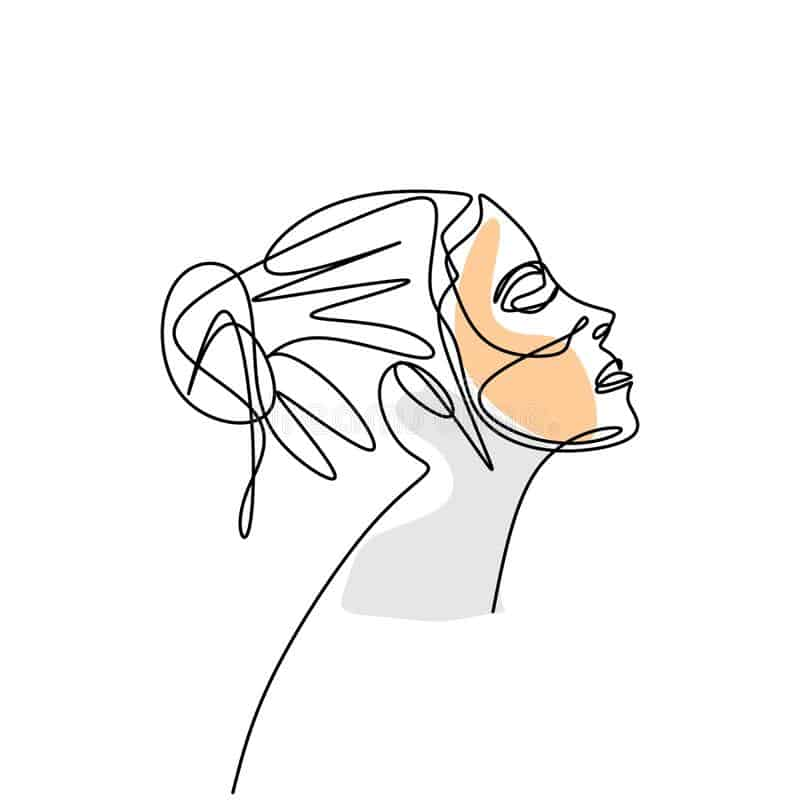 Line art showing a face to demonstrate profhilo treatment
